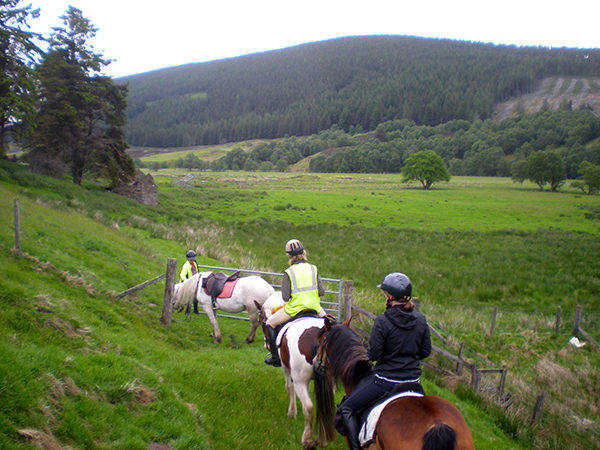 Scotland Highlands horse riding vacations