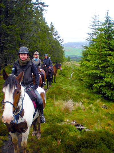 Scotland horse riding Highlands vacation
