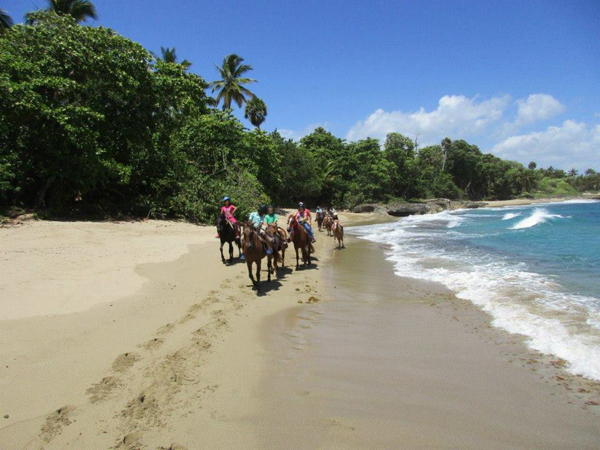 trail ride on the beach at sea horse ranch dominican republic