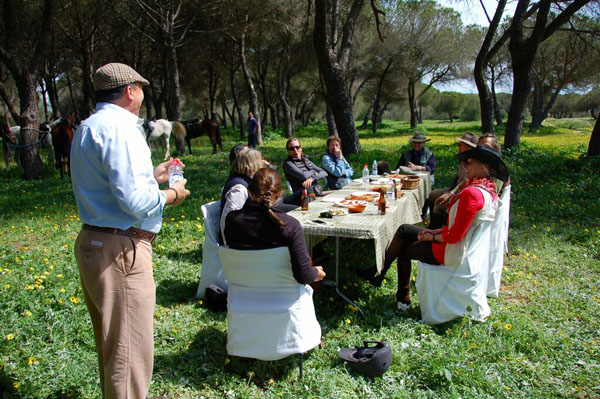 Spain Horseback Riding Vacation Picnic Lunch