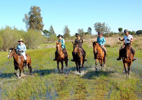 Spain Donana National Park Horse Ride