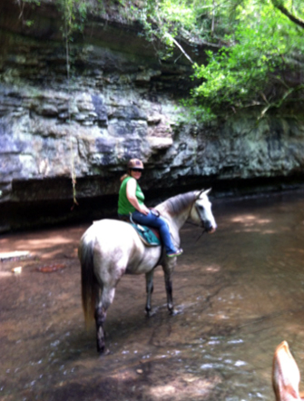 shaker village horseback waterfall