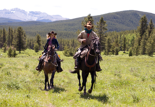 horse riding Canadian Rockies