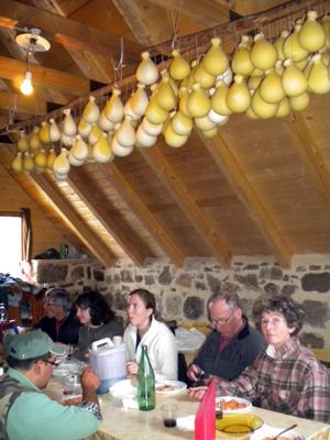 Madonie lunch in a shepherd hut in sicily