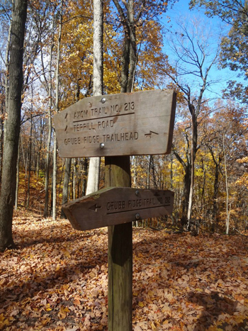 Deam Wilderness trail signs