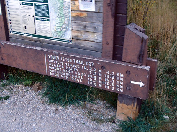South Teton Trailhead Alaska
