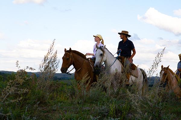 sunset uruguay rancher