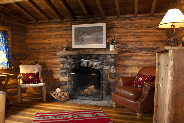 t cross ranch cabin interior