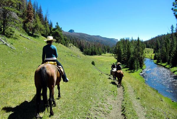 t cross ranch wyoming horseback