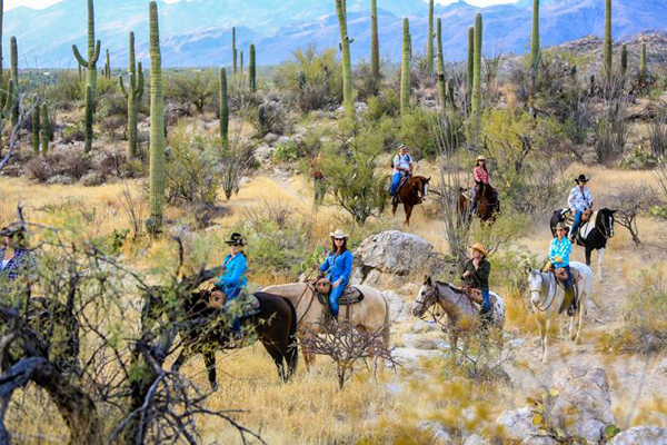 western style riding at tanque verde ranch