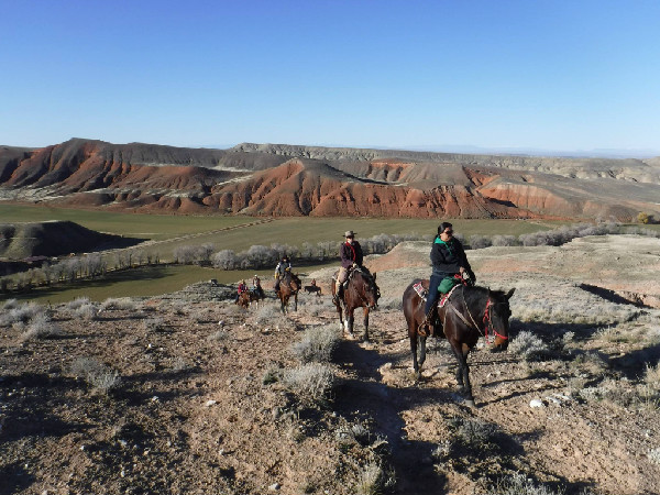 The Hideout Lodge and guest Ranch Wyoming riding horses