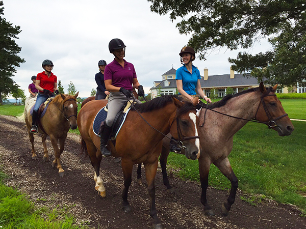 trail riding at salamander resort in virginia