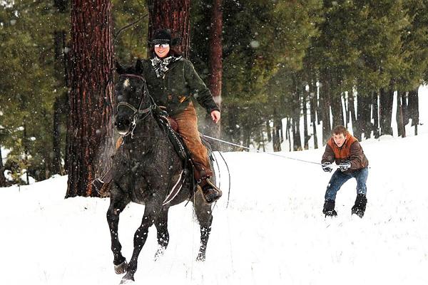 Triple Creek Ranch Skijoring