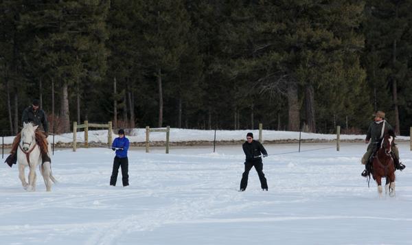 Triple Creek Ranch Skijoring Lesson