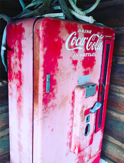vintage coke machine ranch
