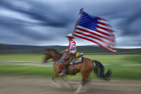 vista verde guest ranch fourth of july flag