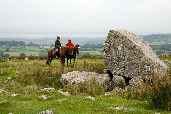 Wales King Arthurs Stone horseback