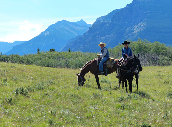 waterton lakes national park canada horse riding vacation