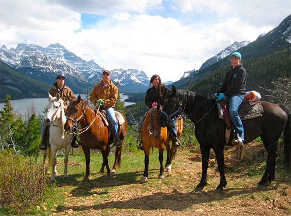 waterton lakes national park canada horse riding