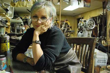 Wendy Allen in her workshop