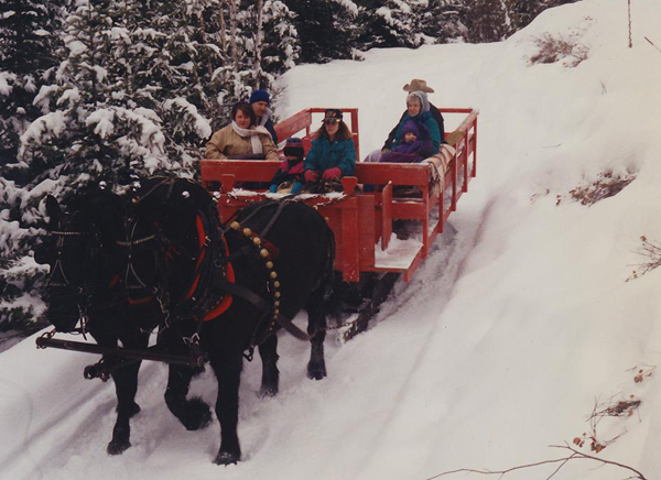 Western Pleasure Guest Ranch Christmas Sleigh Ride